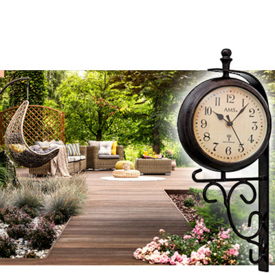 Garden ClocksWeatherproof and durable