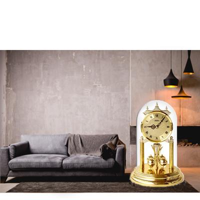Anniversary Clocks elegant with turning pendulums