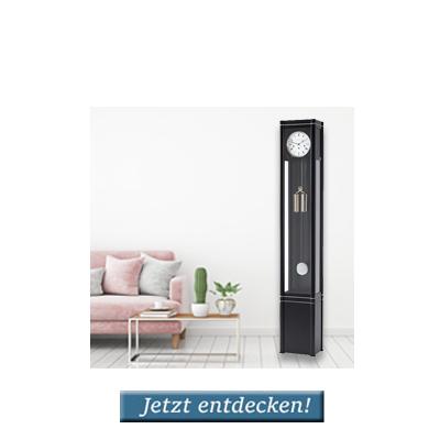 <b>Standuhren</b> in modernen Wohnr&auml;umen